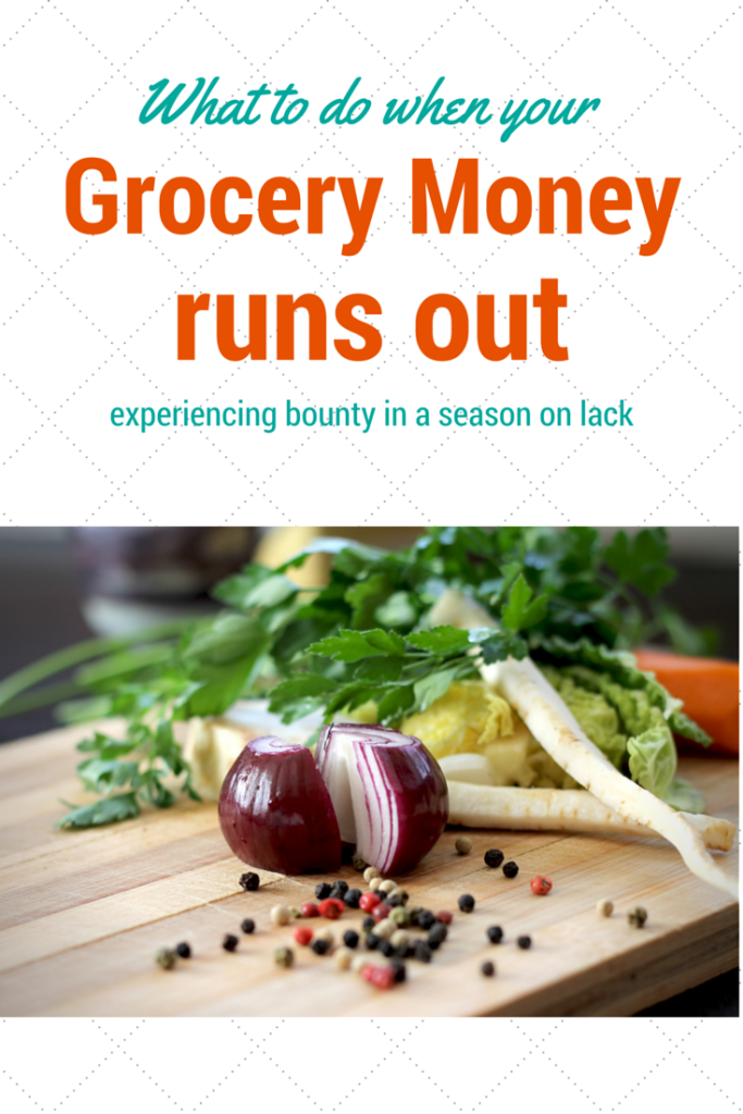 What to do when your grocery budget runs out…