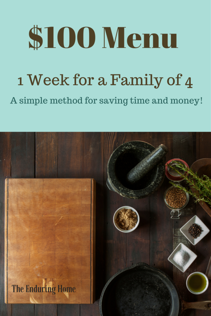 $100 Menu ~1 Week for a Family of 4~ Gluten Free!