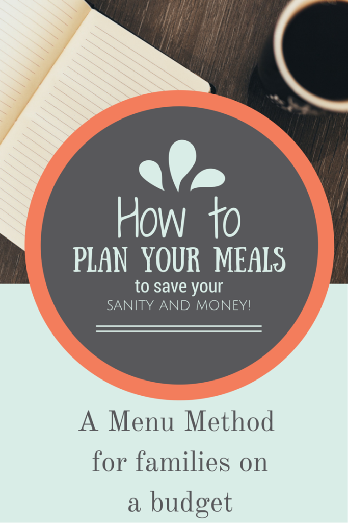 A Menu Method for Families on a Tight Budget