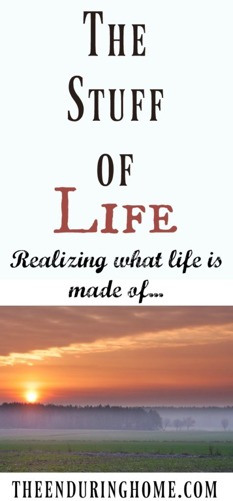The Stuff of Life – realizing what life is made of