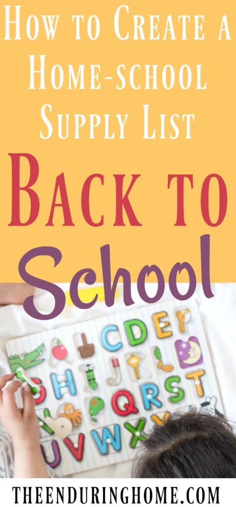 How to Create a Home-School Supply List   Back-to-school Season