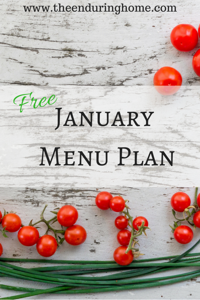 January Menu Plan Free!  Orthodox Fast Friendly