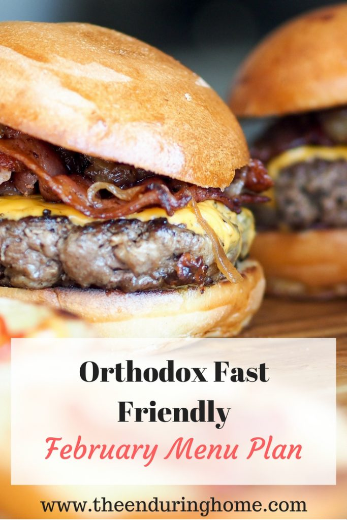 Free February Menu Plan – Orthodox Fast Friendly!